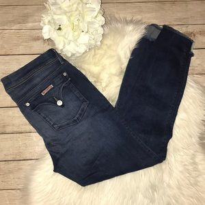 Hudson Cat Mid-Rise Skinny Jeans w/ Step Ankle